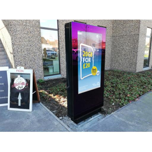 "Bluelaser Freestanding PCAP outdoor digital poster 43"" 49"" 55"" 65"" 75"" 86"""